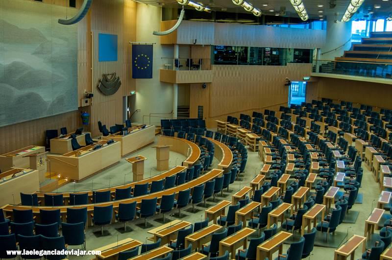 Actual sala del parlamento Sueco