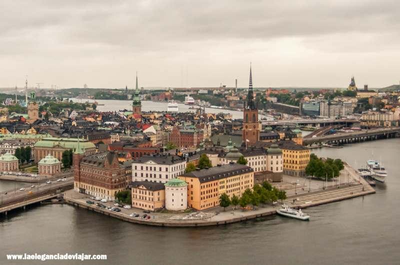 Vistas desde la torre del Ayuntamiento de Estocolmo