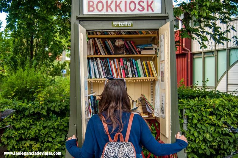 Bokkiosk por las calles de Sigtuna
