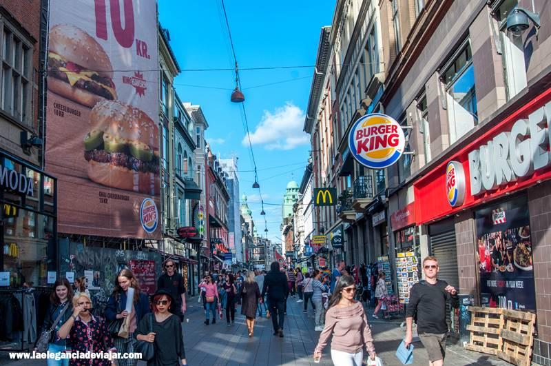 Calle comercial de Copenhague
