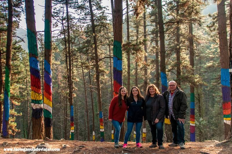 En familia por el bosque de Oma
