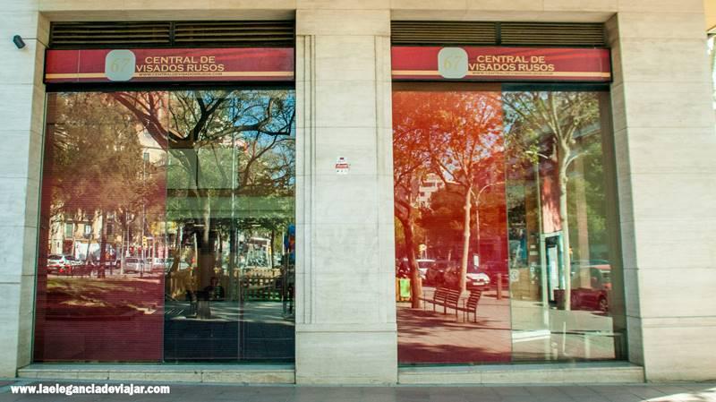 Central de visados rusos en Barcelona