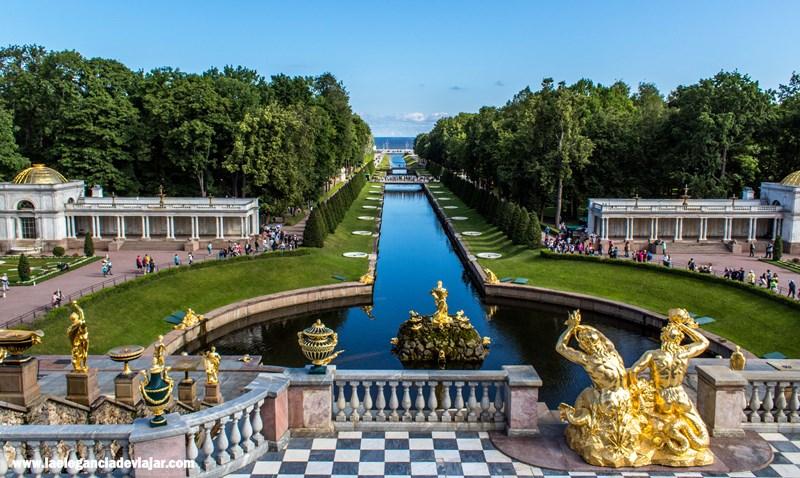 La Gran Fuente desde las terrazas del Palacio