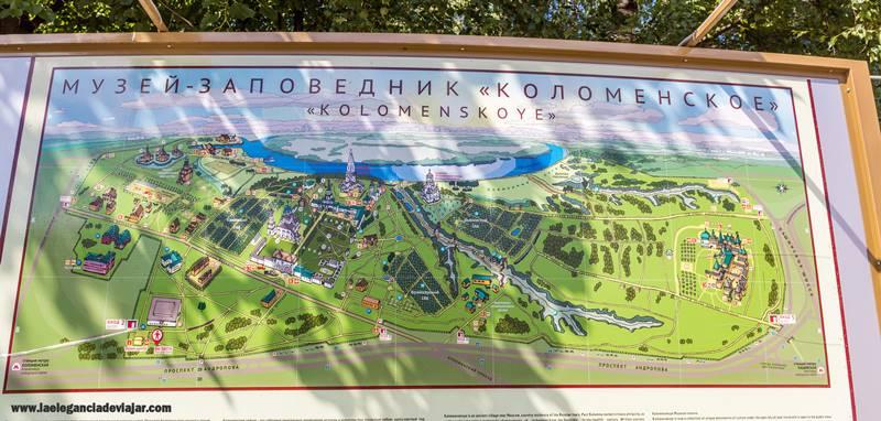 Mapa de Kolomenskoye