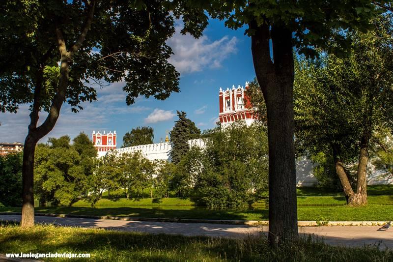 Vistas al Monasterio de Novodévichi