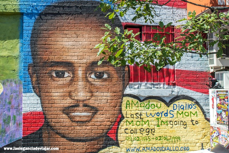 Graffiti en honor a Amadou Diallo