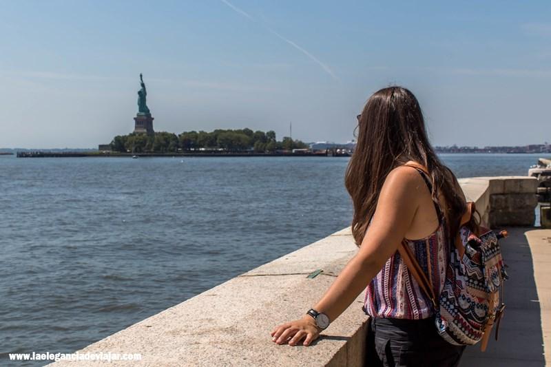 Vistas a la Estatua de la Libertad desde Ellis Island