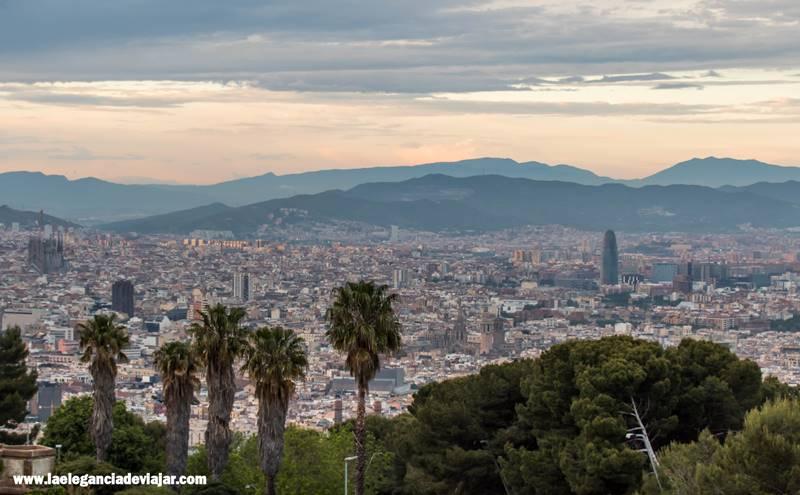 Atardecer en el Castillo de Montjuïc