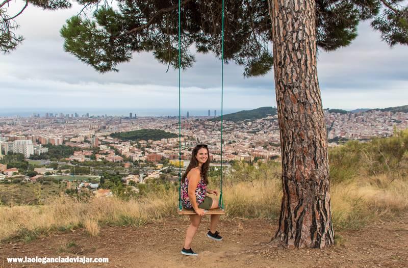 El Columpio con las mejores vistas de Barcelona