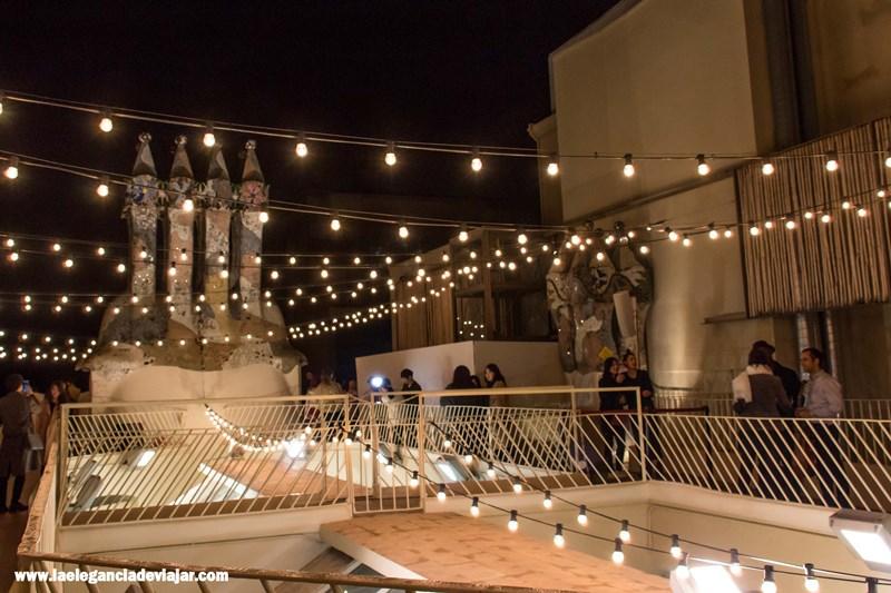 Terraza durante Nits màgiques a la casa Batlló