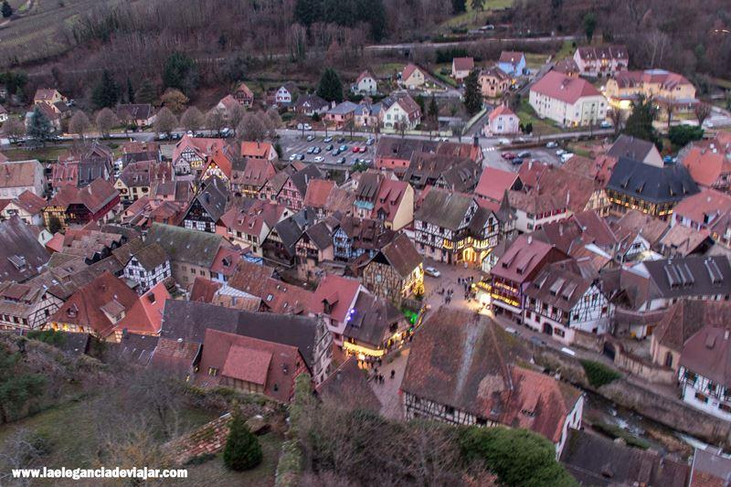 Vistas de Kaysersberg desde el castillo