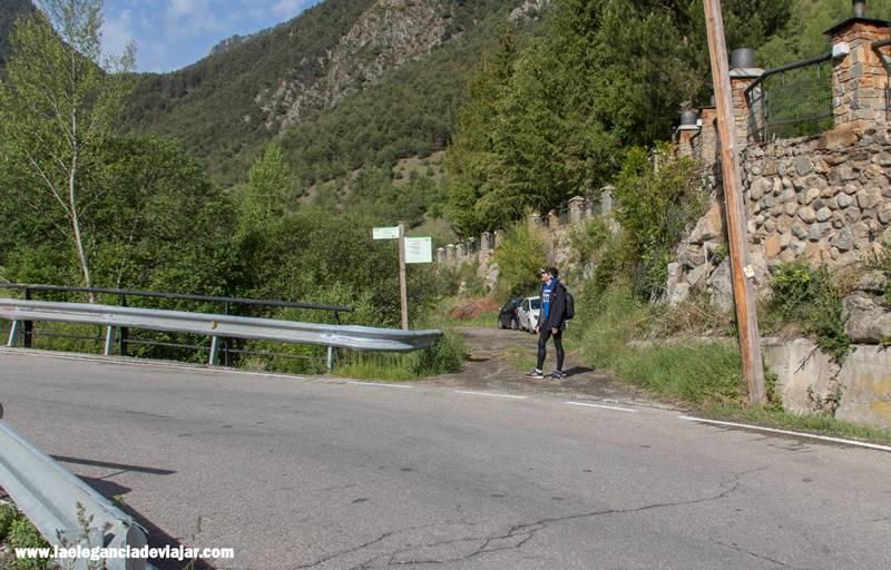 Comienzo de la ruta hasta el JM Blanc