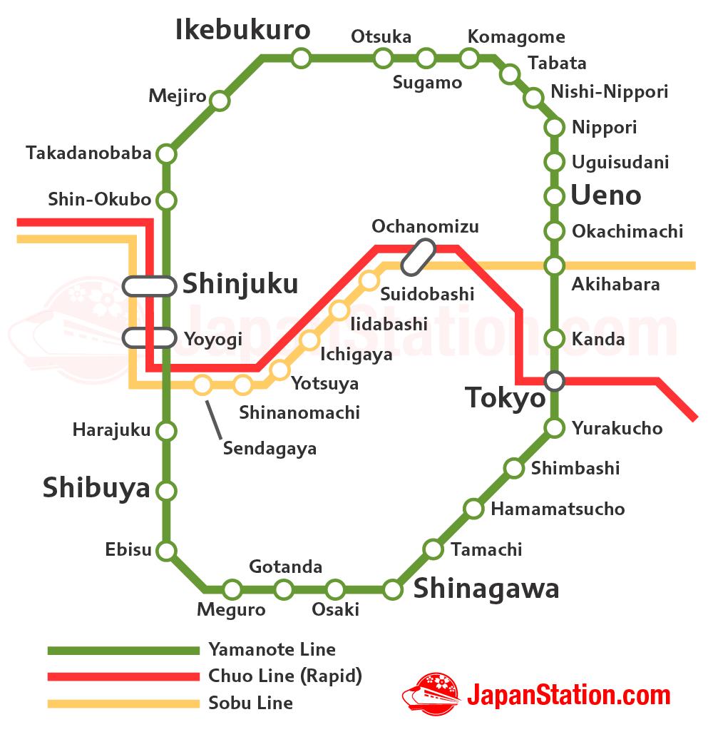 Líneas de JR en Tokyo