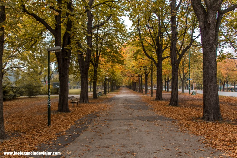 El parque del Prater en otoño