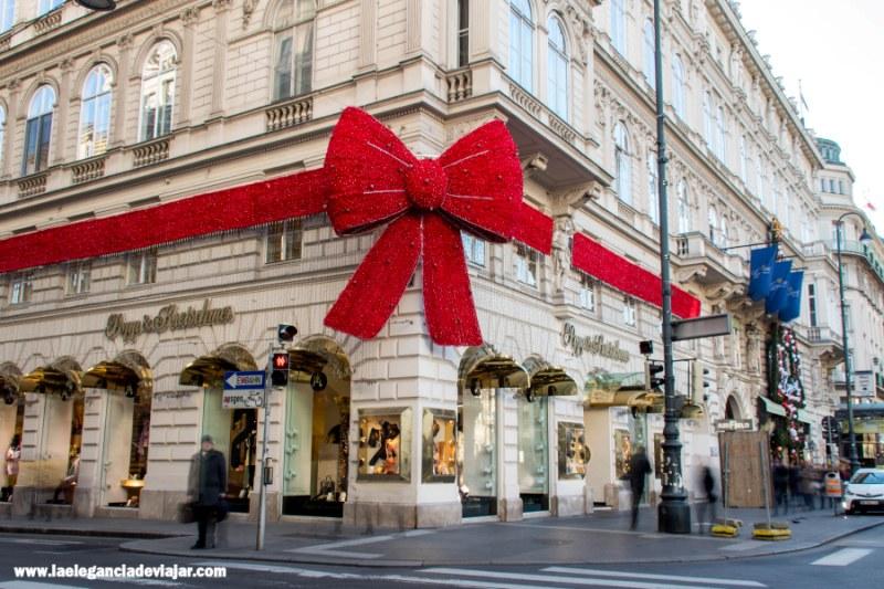 Decoración navideña en Viena