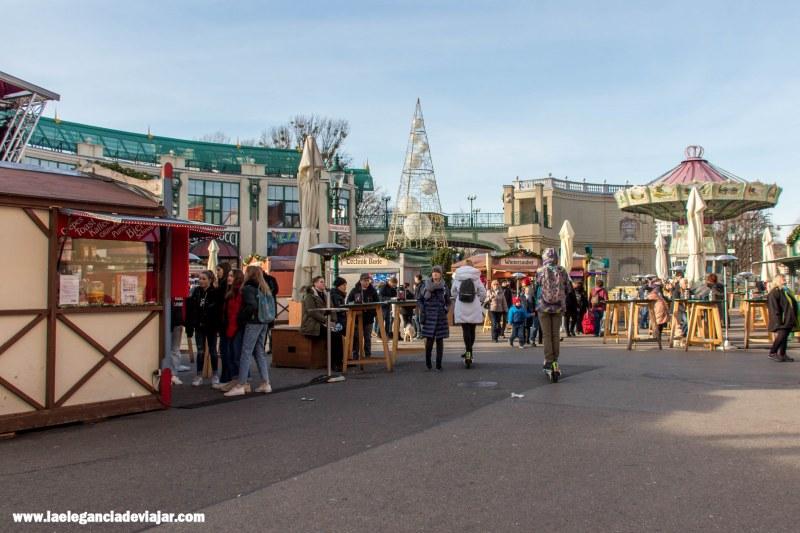 Mercado de navidad en el Prater