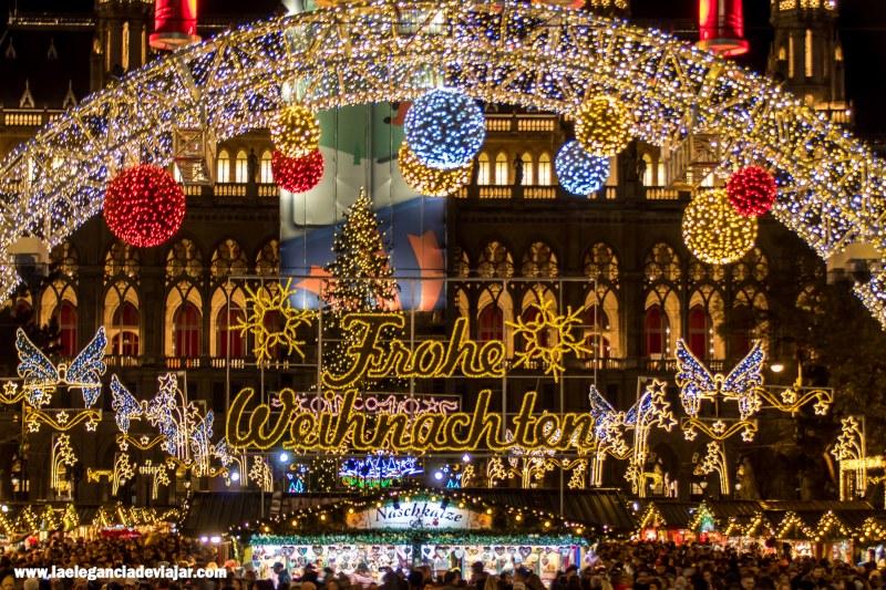Mercado de navidad del ayuntamiento de Viena