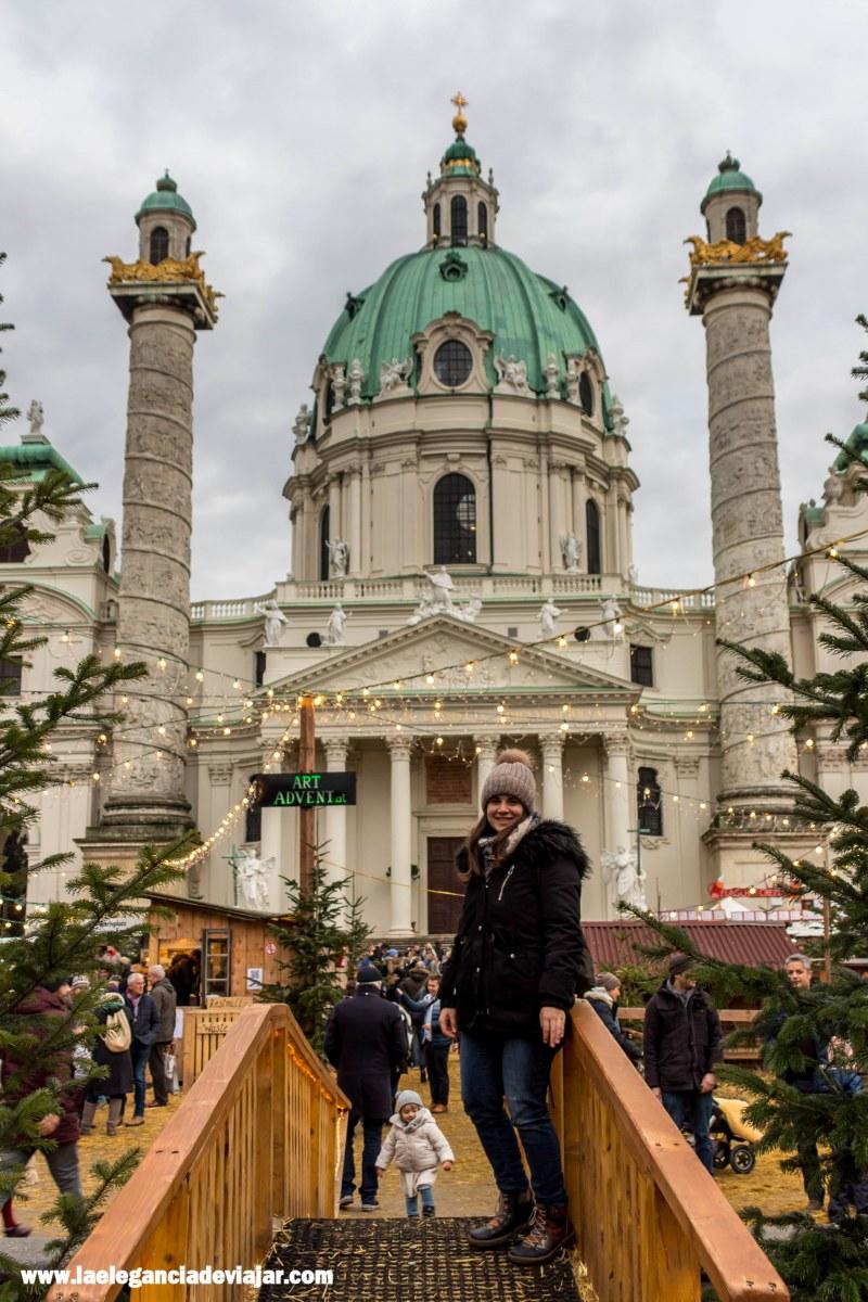 Mercado de navidad en Karlsplatz