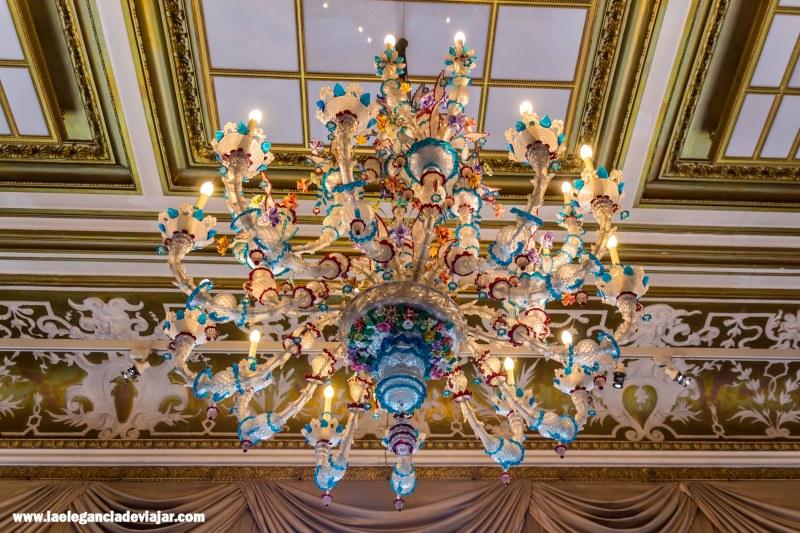 Lámpara en la Villa de Otto Wagner