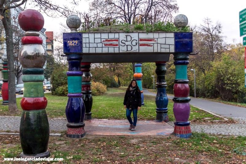 Obra de Hundertwasser en Viena