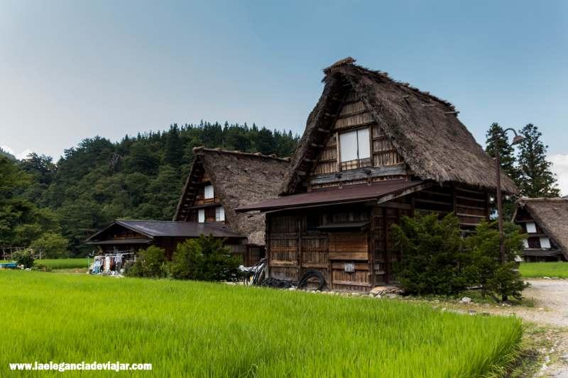 Casas Gassho tradicional en Shirakawa-go