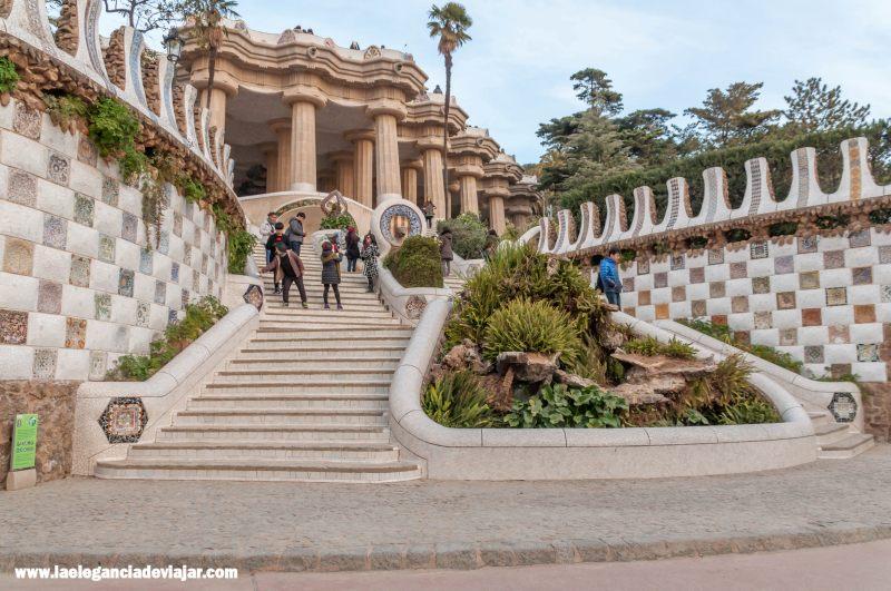 Escalinata del dragón en el Park Güell