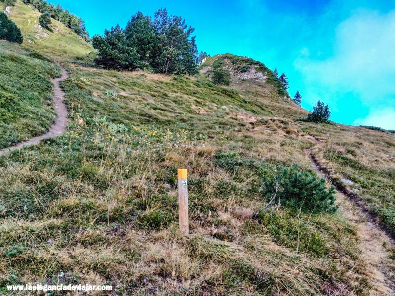 Señal en la ruta del Montcorbison