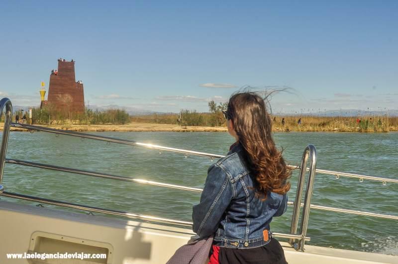 Mirador desde el Barco en el Delta del Ebro