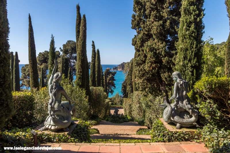 Escalera de las Sirenas en los Jardines de Santa Clotilde