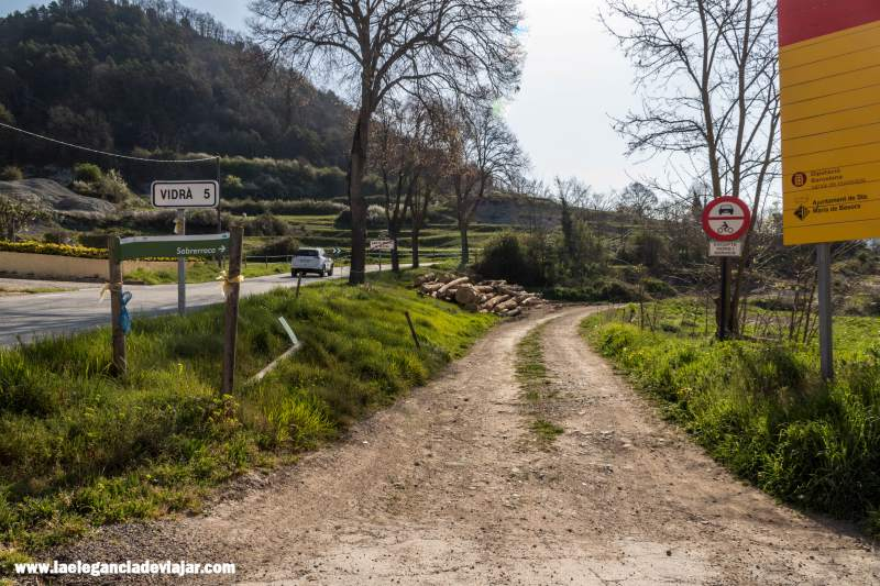 Comienzo de la ruta desde Santa Maria de Besora